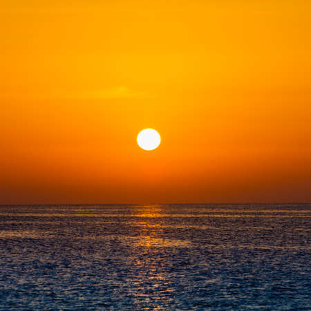 peaceful background: Beautiful sunset over the sea. beauty landscape. Wonderful sunrise