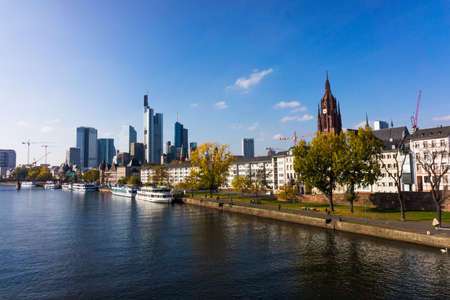 Skyline of Frankfurt, Germany. View of Frankfurt am Main