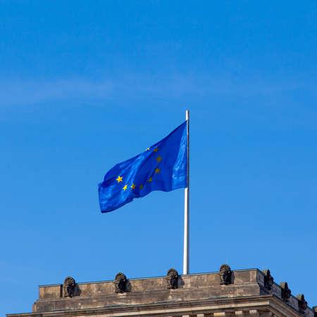 euro area: Flag of European Union.