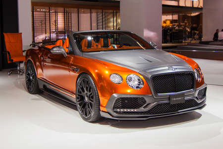 iaa: FRANKFURT, GERMANY - SEPTEMBER 23, 2015: Mansory Bentley Continental GTC shown at the IAA 2015
