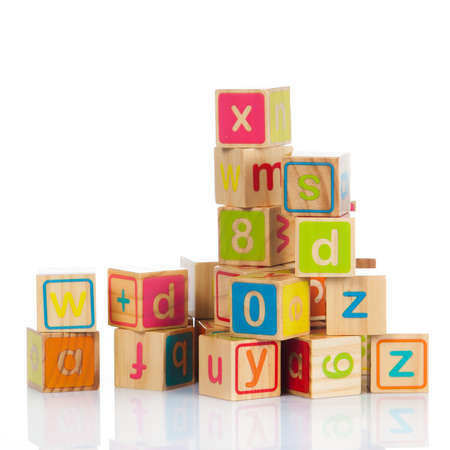 wood letters wooden toy cubes with letters wooden alphabet blocks stock photo