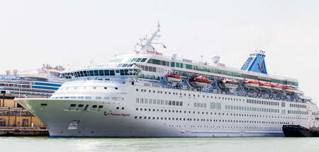 majesty: Venice, Italy - Junye 01, 2014 Cruise ship Thomson Majesty can be seen docked in the harbour.