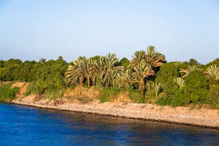 the nile: River Nile in Egypt Stock Photo