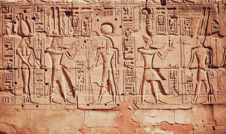 ruins is ancient: old egypt hieroglyphs