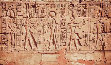 oude Egypte hiërogliefen Stockfoto
