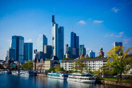 Skyline van Frankfurt, Duitsland. Frankfurt am Main city