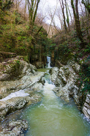 sochi: Agursky waterfall in Sochi National Park, Russia