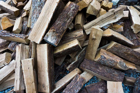 fire wood: Pile of chopped fire wood.  Stack of firewood