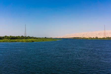 the nile: Nile river, Egypt Stock Photo