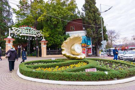 riviera: SOCHI, RUSSIA - January 11, 2016: Park Riviera in city Sochi