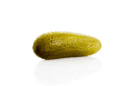 marinated: Marinated pickled cucumber isolated on white background