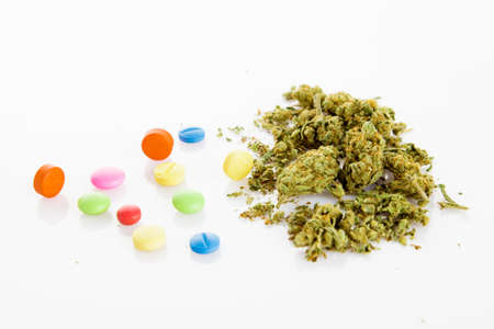 illegal drugs: Illegal drugs. Narcotic drugs Stock Photo