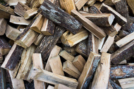 firewood: Pile of chopped fire wood.  Stack of firewood