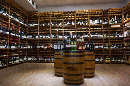 march 17: BERLIN, GERMANY - MARCH 17  2015 - a variety of alcoholic drinks
