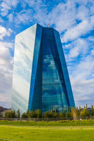 central european: FRANKFURT, GERMANY - SEPTEMBER 19 2015 : New headquarters of European Central Bank Editorial