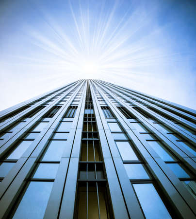 skyscraper sky: Modern glass silhouettes of skyscrapers