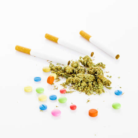 illegal: Illegal drugs. Narcotic drugs Stock Photo