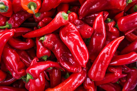 Red chili pepper background Stock Photo