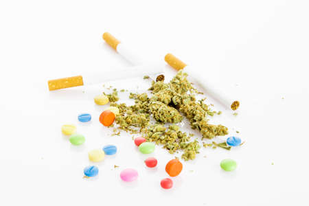 Illegal drugs. Narcotic drugs Stock Photo