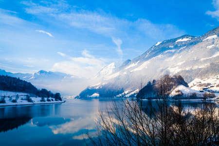 winter wood: Fantastic winter landscape.  Panoramic view of beautiful winter landscape.  winter background