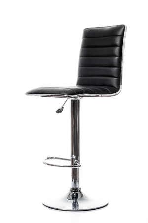 bar stool chair: bar chair isolated on white. Single stool Stock Photo