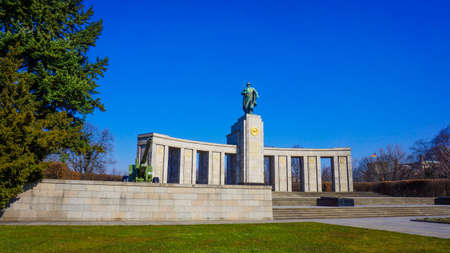 soviet: Soviet War Memorial in Tiergarten. Berlin