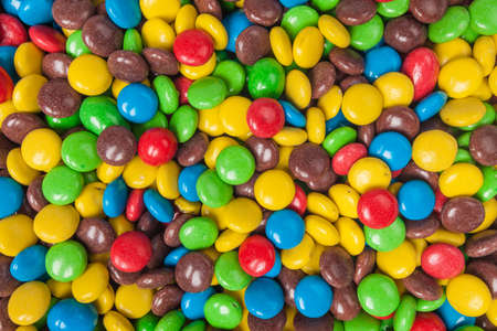 colorant: colorful candy.  pile of colorful chocolate  candy