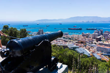 cannon gun: Gibraltar cannon. Gun in Giblartar