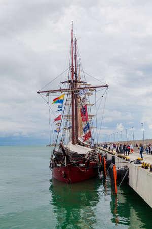 RUSSIA, SOCHI - SEPTEMBER 21, 2016 :SCF Black Sea Tall Ships Regatta 2016. Organised by Sail Training International Editorial