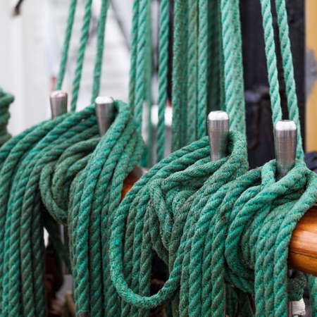 sailboard: rope on boat