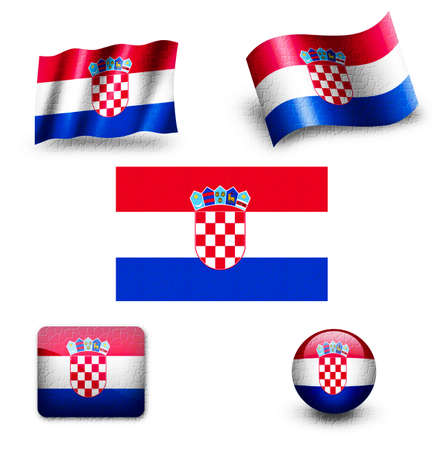 old flag: Croatia Flag Stock Photo