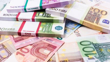 Lots of cash money.  Euros. euro money banknotes. Money Euro background Stock fotó