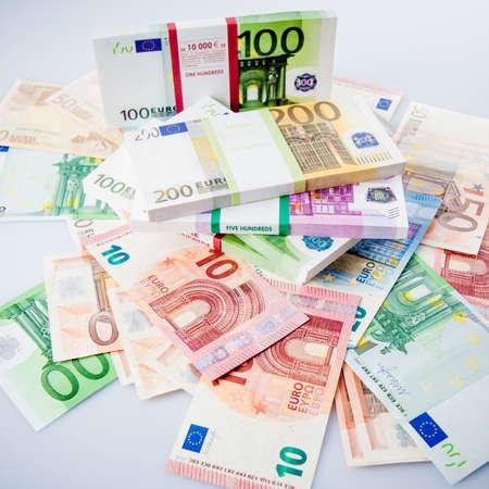 banconote euro: Le banconote in euro. Molte banconote in euro Archivio Fotografico