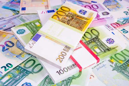 Euro Geld. euro contant geld achtergrond. Geld eurobankbiljetten