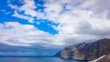 Landscape of Los Gigantes resort city, Tenerife, Canary Islands, Spain