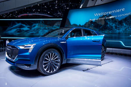 Frankfurt, Germany - September 22, 2015: Audi e-tron  concept car presented on display in Frankfurt. Germany