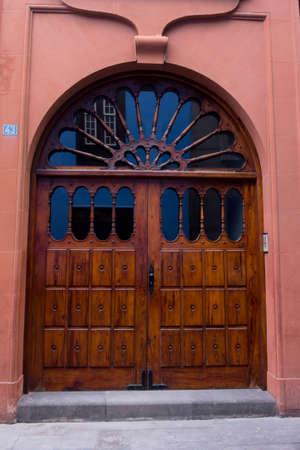 Ancient wooden door. Antique door Editorial