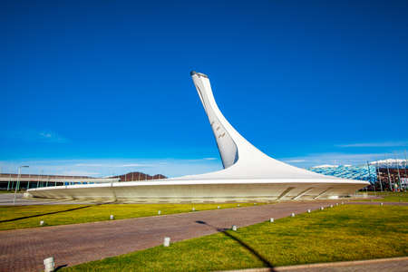 Sochi, Russia, January 15, 2016: Olympic park landscape. Objects and Attractions Editorial