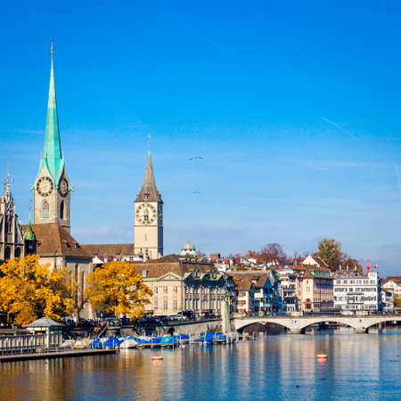 Panoramic view of historic Zurich