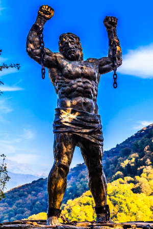 The sculpture of Prometheus, Sochi national Park