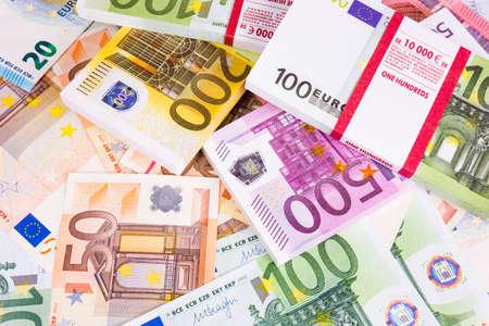 cash money. euro bills. Euro currency money Stock Photo