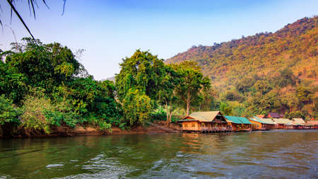 House on the river. River Kwai in Thailand
