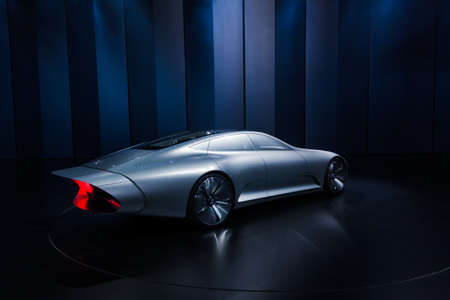 FRANKFURT - SEPTEMBER 23: Mercedes-Benz Concept IAA shown at the 66th IAA on September 23, 2015 in Frankfurt, Germany.(Intelligent Aerodynamic Automobile) - world premiere