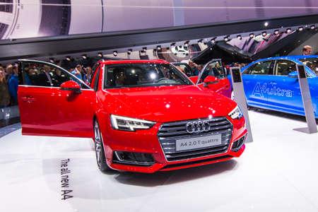 FRANKFURT - SEPT 23: Audi A4 2.0 T quattro shown at the 66th IAA on September 23, 2015 in Frankfurt, Germany.
