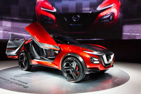 FRANKFURT, GERMANY - SEPTEMBER 23, 2015: Frankfurt international motor show (IAA) 2015. Nissan Gripz Concept - world premiere Editorial