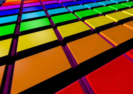 superstructure: Abstract colorful  modern background. 3d colorful background