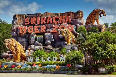 SRIRACHA, THAILAND - NOVEMBER 27 Sriracha Tiger Zoo. Tiger Zoo on November 27, 2013 in Sriracha, Thailand Editorial
