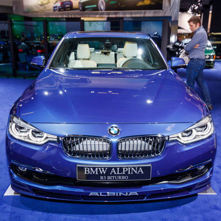 FRANKFURT, GERMANY - SEPTEMBER 23, 2015:  BMW ALPINA presented on the 66th International Motor Show Editorial