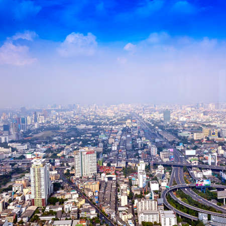 Bangkok Cityscape, Business district with high building