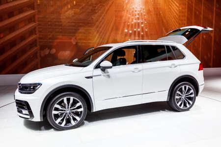 FRANKFURT, GERMANY - SEPTEMBER 23, 2015: Volkswagen Tiguan R-Line presented on the 66th International Motor Show